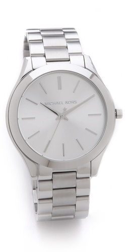 Michael Kors Silver Slim Runway Watch at Shopbop.com