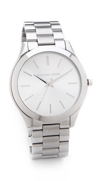 Michael Kors Silver Slim Runway Watch