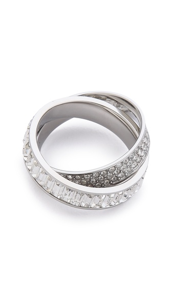 Michael Kors Pave Intertwined Baguette Ring