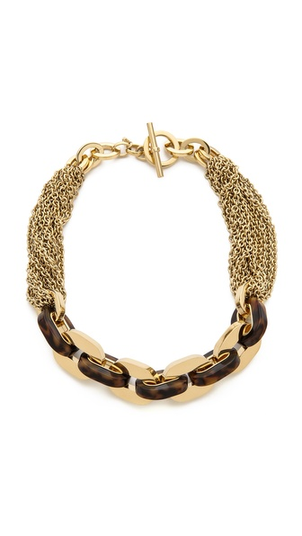 Michael Kors Tortoise Status Link Toggle Necklace