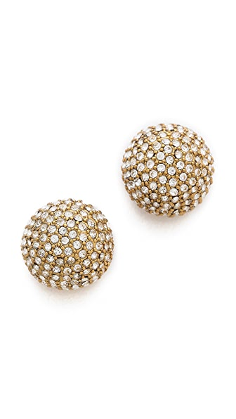Michael Kors Pave Bead Stud Earrings