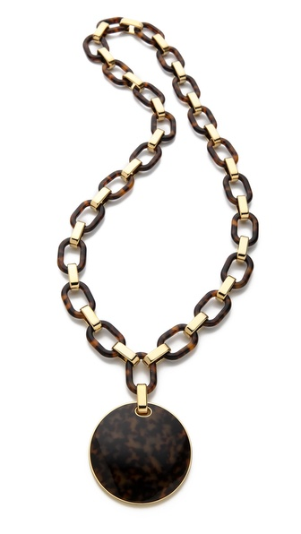 Michael Kors Link Disk Necklace