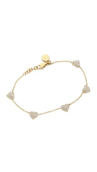 Michael Kors Pave Delicate Heart Bracelet