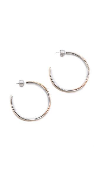 Michael Kors Medium Whisper Hoop Earrings