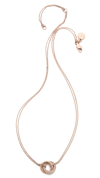 Michael Kors Pave Rings Pendant Necklace