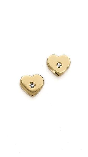 Michael Kors Heart Post Earrings