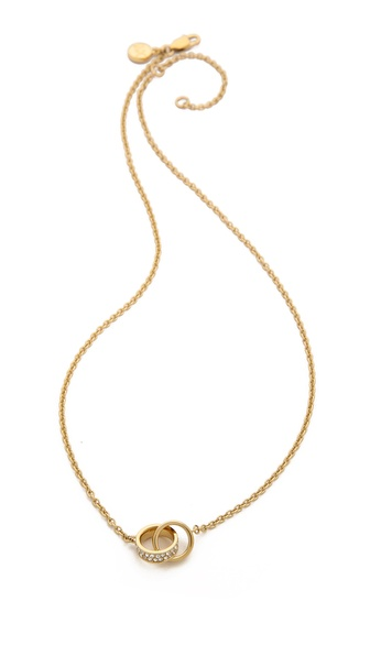Michael Kors Link Charm Double Chain Necklace