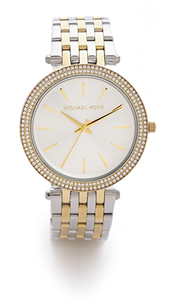 Michael Kors Darci Pave Two Tone Watch