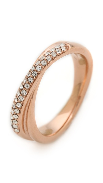 Michael Kors Pave Crossover Ring