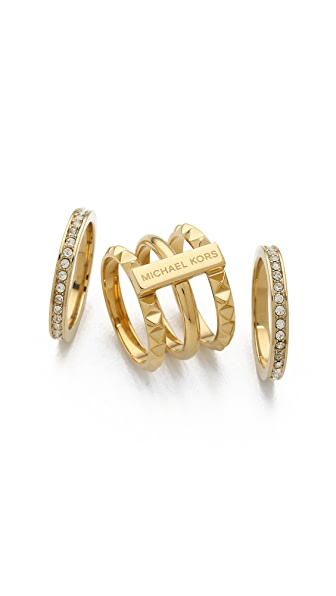 Michael Kors Pave Stackable Pyramid Ring