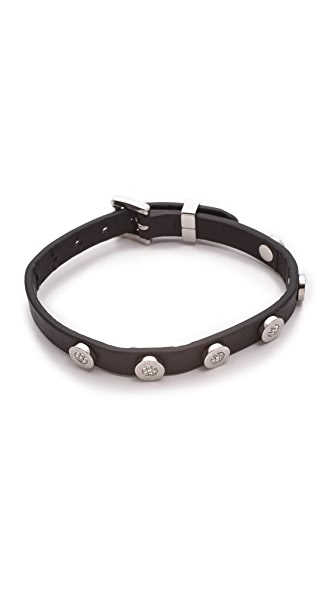 Michael Kors Pave Logo Disc Single Wrap Bracelet