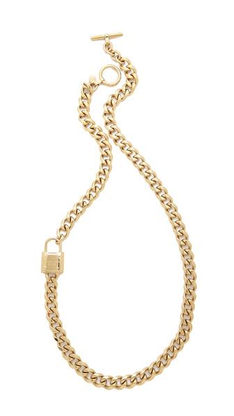 Michael Kors Single Padlock Station Necklace