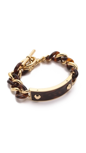 Michael Kors Curb Chain Plaque Toggle Bracelet