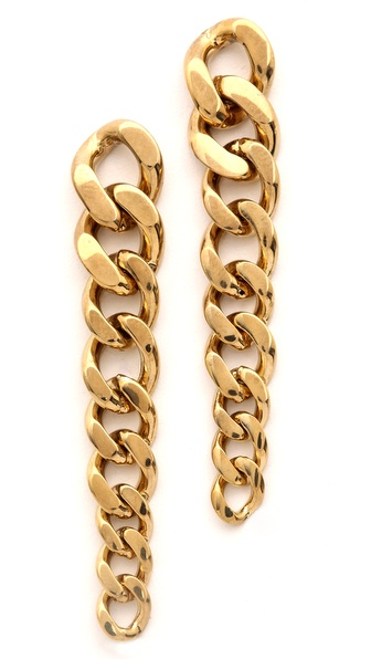 Michael Kors Graduated Curb Chain Post Earrings