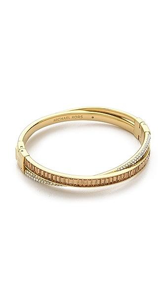 Michael Kors Pave & Baguette Crossover Bracelet