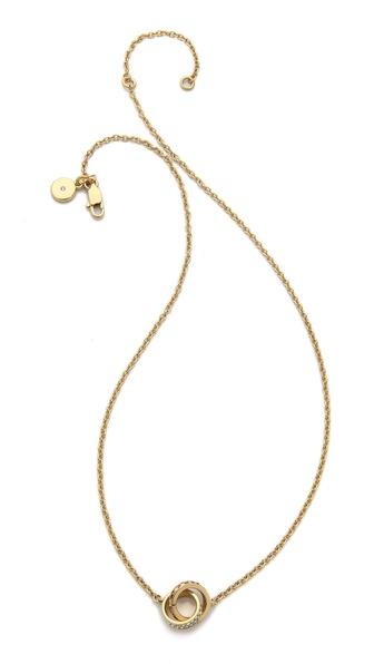 Michael Kors Pave & Baguette Link Charm Necklace