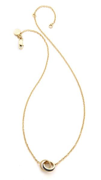 Michael Kors Pave & Baguette Double Chain Necklace