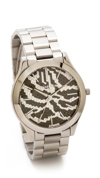 Michael Kors Midnight Safari Slim Runway Watch