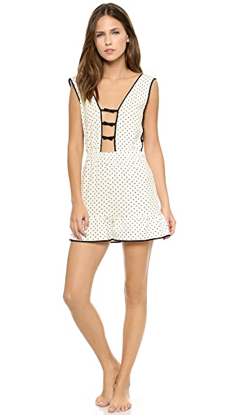 Morgan Lane Dree Polka Dot Sleep Romper