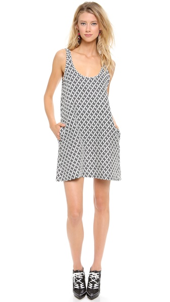 Margaux Lonnberg Diamond Jacquard Shift Dress