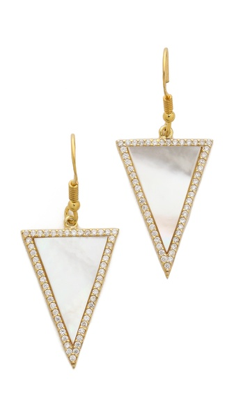 Mary Louise Designs Pave Triangle Earrings