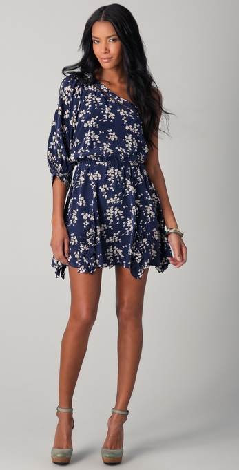 Madison Marcus Flourish One Shoulder Dress