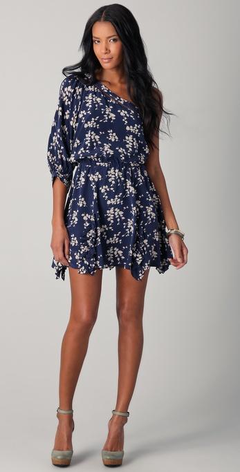 Madison Marcus Flourish One Shoulder Dress