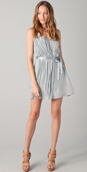 Madison Marcus Succeed Tie Waist Mini Dress