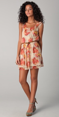 Madison Marcus Opulence Floral Mini Dress