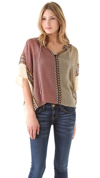 Madison Marcus Ideal Boho Poncho Top
