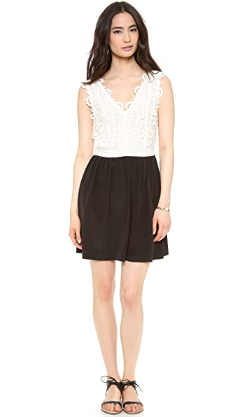 Madison Marcus Lace Combo Dress