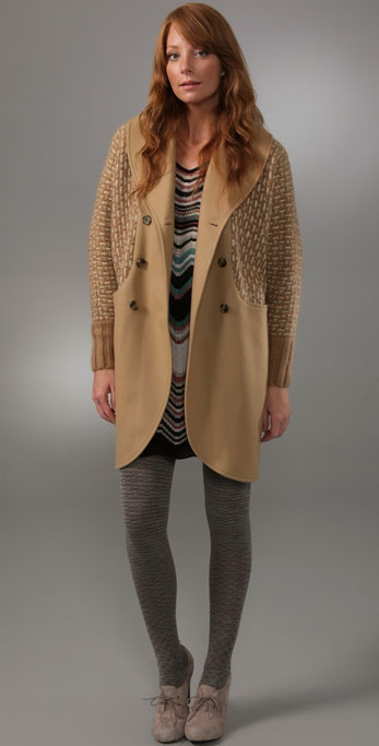 M Missoni Coat with Knit Inserts