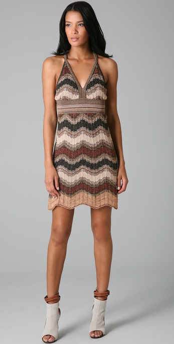 M Missoni Lurex Wave Halter Dress