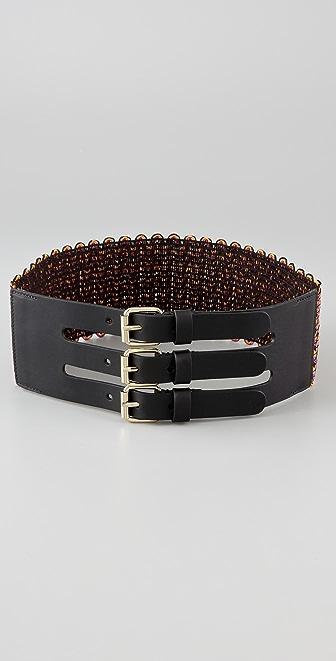 M Missoni Three Buckle Belt