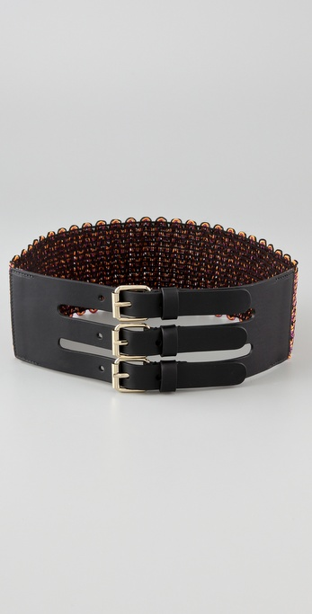 M Missoni Three Buckle Belt