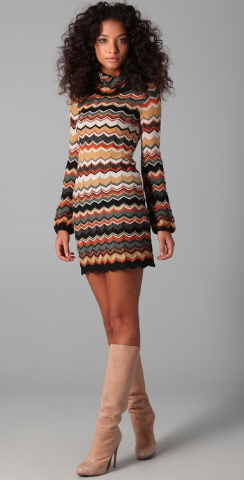 M Missoni Turtleneck Sweater Dress