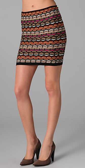 M Missoni Honeycomb Knit Tube Skirt