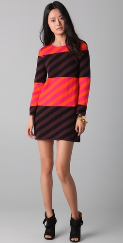 M Missoni Diagonal Stripe Colorblock Dress