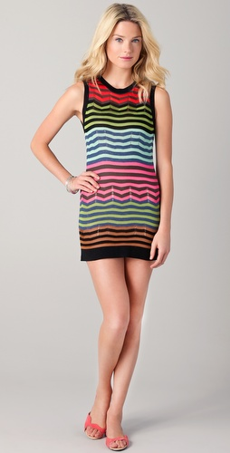 M Missoni Colorblock Stripe Mini Dress