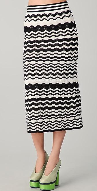 M Missoni Pointelle Wave Midi Skirt
