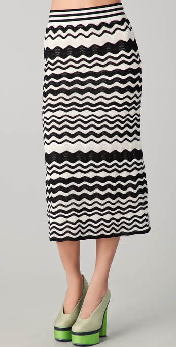 M Missoni Pointelle Wave Midi Skirt