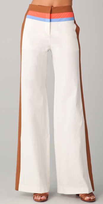 M Missoni Colorblock Wide Leg Pants