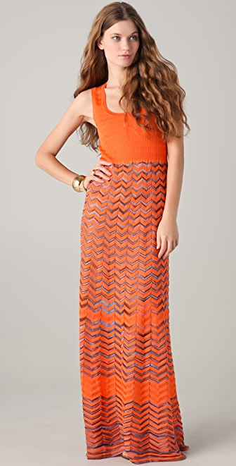 M Missoni Knit Maxi Tank Dress