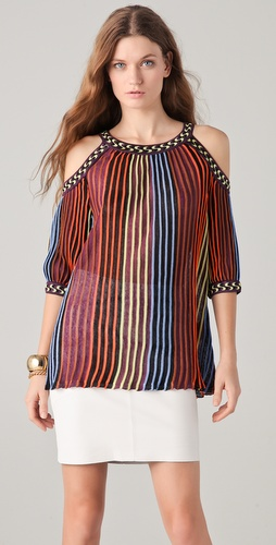 M Missoni Knit Top with Cutout Shoulders