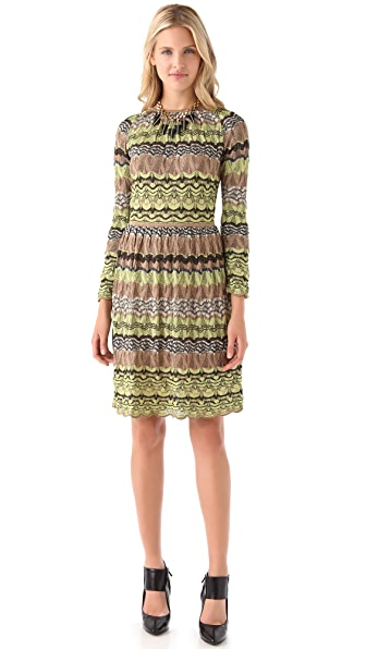 M Missoni Pointelle Open Back Dress