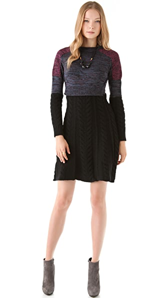M Missoni Patchwork Melange Sweater Dress
