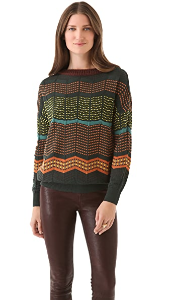 M Missoni Dot Stripe Pullover