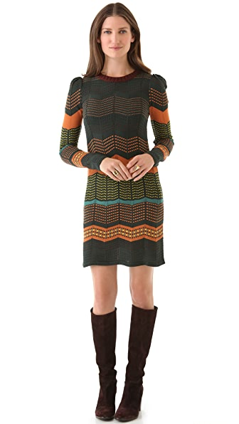 M Missoni Dot Stripe Dress