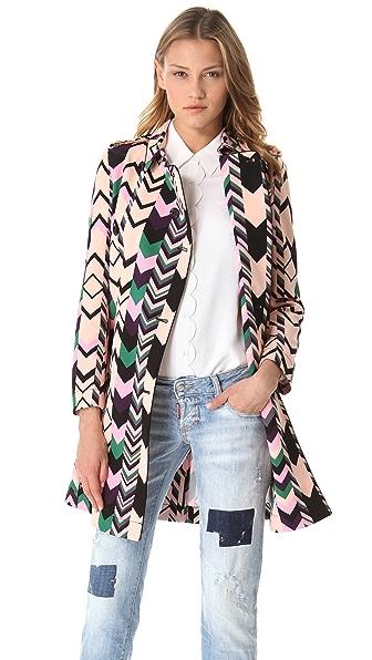 M Missoni Zigzag Trench Coat