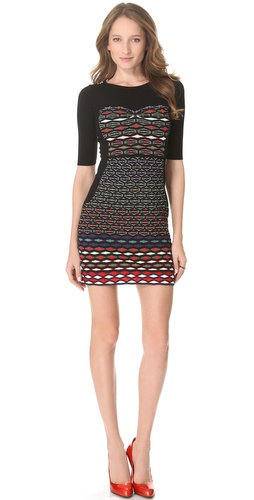 M Missoni Diamond Stripe Dress